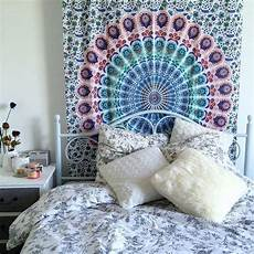 White Tapestry Bedroom Ideas by Small Multi Leafs White Mandala Bohemian Wall Tapestry