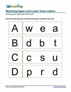 letter matching printable worksheets 24293 kindergarten matching letters a b c d