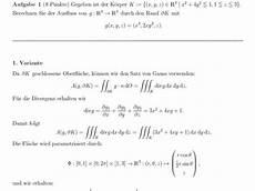 parametrisierung bei ausflussberechnung mathelounge