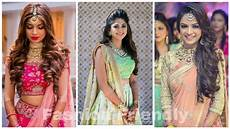 open hairstyles with lehenga open hairstyles for wedding functions fashion friendly youtube