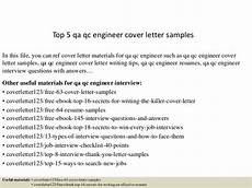 top 5 qa qc engineer cover letter sles