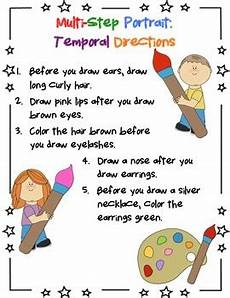 multi step directions worksheets 11737 multistep portrait temporal directions by meg s speech room tpt