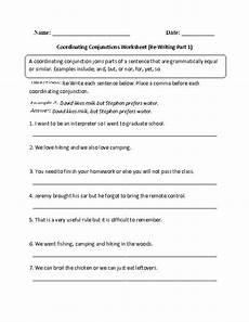 conjunctions worksheets class 5 coordinating conjunctions re writing part 1 intermediate englishlinx com board pinterest