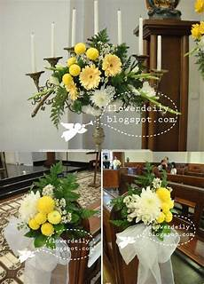 wedding church d 233 cor green yellow theme flower daily blog