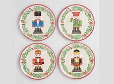 Holiday Nutcracker Melamine Plates Set of 4   World Market