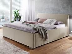 schlafzimmer betten polsterbett larissa 180x200 beige doppelbett ehebett