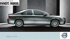 car owners manuals free downloads 2007 volvo s80 on board diagnostic system 2007 volvo s60