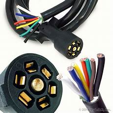 7 way 8ft foot trailer cord wire harness light plug