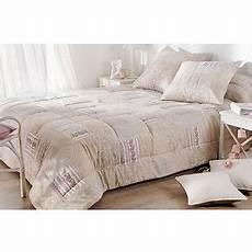 jeté de lit boutis couvre lit boutis bergamote patchwork beige et marron