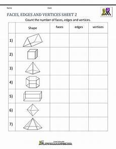 shapes and vertices worksheets 1309 3d shapes worksheets 2nd grade