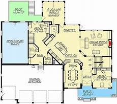 luxury home plan with 4 season porch and indoor sport