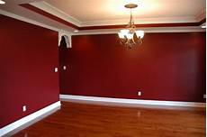 wand rot streichen how to stencil a wall dining room project living room