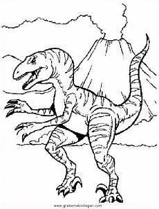 Ausmalbilder Dinosaurier Raptor Velociraptor 43 Gratis Malvorlage In Dinosaurier Tiere