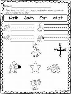 easy mapping worksheets 11537 location words practice pages by never erased teachers pay teachers