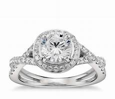 lhuillier twist halo engagement ring in platinum blue nile