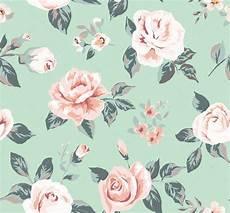Flower Illustration Wallpaper by Classic Wallpaper Seamless Vintage Flower Pattern On Green