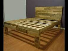 how to make a pallet bed how to make a bed from pallets