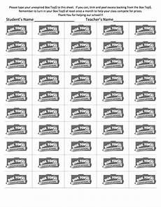 box tops 50 count sheet box tops collection sheets box top collection sheets box tops