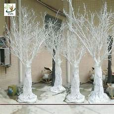 uvg dtr14 white decorative artificial winter tree without