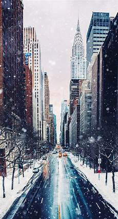 Wallpaper New York Snow