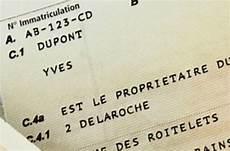 Carte Grise Et Changement De Propri 233 Taire On Fouille