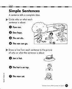 writing sentences worksheets for grade 1 22104 simple sentences grade 1 printable skills sheets