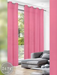 rosa gardinen gardinen rosa pink crash g 252 nstig im 2er pack kaufen