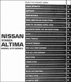 auto repair manual online 1994 nissan altima security system 1994 nissan stanza altima repair shop manual original