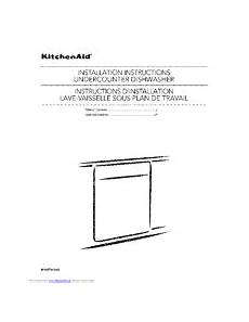 Kitchenaid Dishwasher Install Manual by Kitchenaid Kdfe304dwh0 Manuals