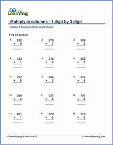 multiplication worksheets grade 4 4292 grade 4 multiplication worksheets free printable k5 learning