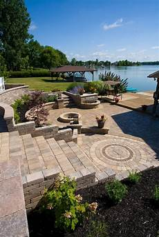 i block pavers for outdoors best combinations of retaining wall blocks and pavers for