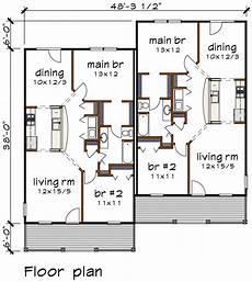 multi family house plans duplex bungalow style multi family plan 72782 with 4 bed 2 bath
