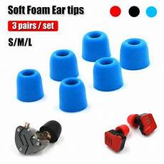 3pairs Noise Isolating Memory Foam Earbud by 3 Pairs Memory Foam Ear Tips Noise Isolating M Size For Kz