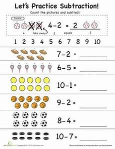 subtraction worksheets from 10 10083 let s practice subtraction 1 to 10 worksheets