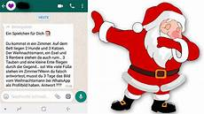 auf whatsapp ist dieses weihnachtsmann r 228 tsel eine abzocke