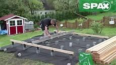 holzterasse selber bauen tommo pr 228 sentiert terrassenbau mit spax lift