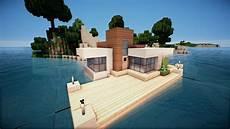 Minecraft Modernes Haus Auf Wasser Bauen Tutorial German