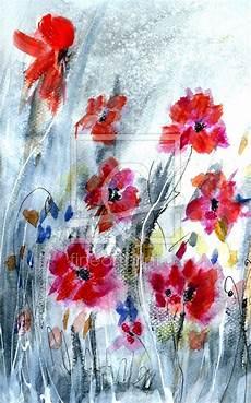 malerei aquarell blumen leinwanddruck kunst blumen