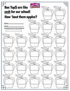 apples box tops collection sheet 25ct back to school boxtops btfe box tops box top
