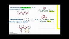 algebra 1 arithmetic sequences youtube