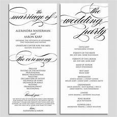wedding program template wedding program printable ceremony printable template pdf instant