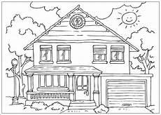 Ausmalbilder Haus Mit Baum Ausmalbild Haus Mit Garten Kinder Ausmalbilder