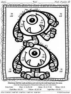 two digit subtraction with regrouping coloring worksheets 10622 digit addition coloring worksheets monsters digit addition and subtraction