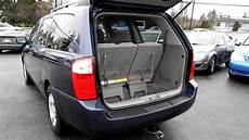 2006 kia sedona lx blue stock l042131 interior rear youtube