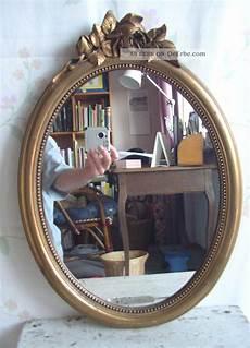 wand spiegel antik spiegel wandspiegel frankreich holz stuck gold oval