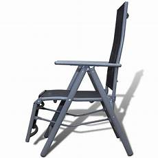 fauteuil de jardin pliable chaise de jardin pliable transat noir fauteuil de jardin pliant white label