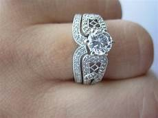 what is a wedding band ring 15 best collection of interlocking engagement rings and