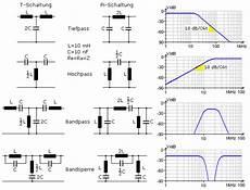 passive elektrische filterschaltungen mit