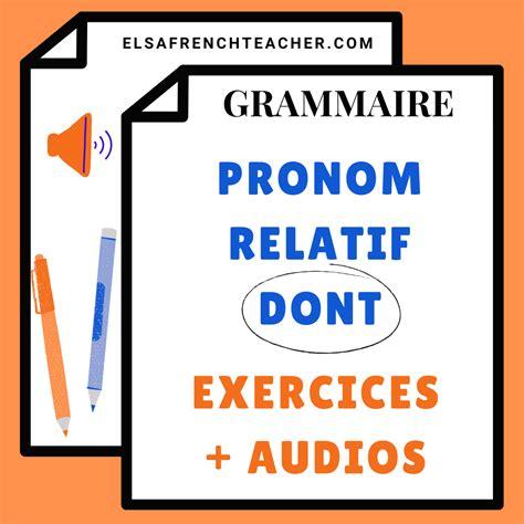 Grammaire Dont