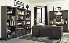 home executive office furniture urban gray executive desk home office set from hekman